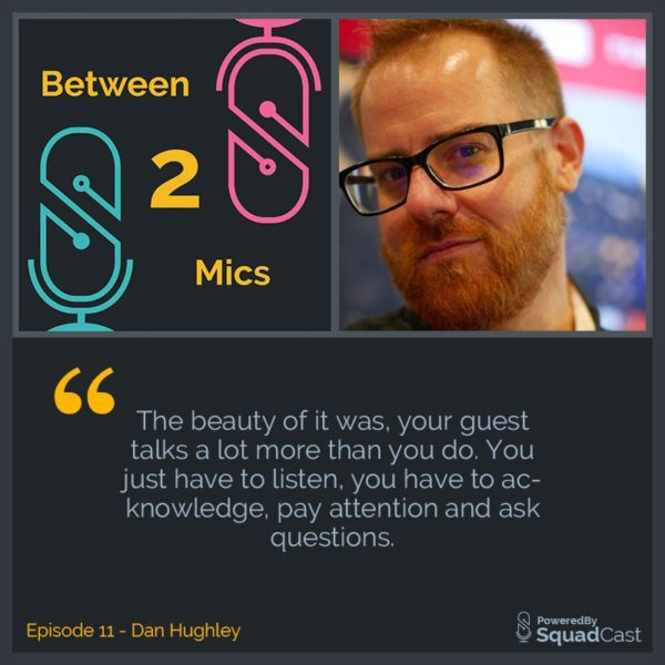 Between 2 Mics - Dan Hughley Cover Art