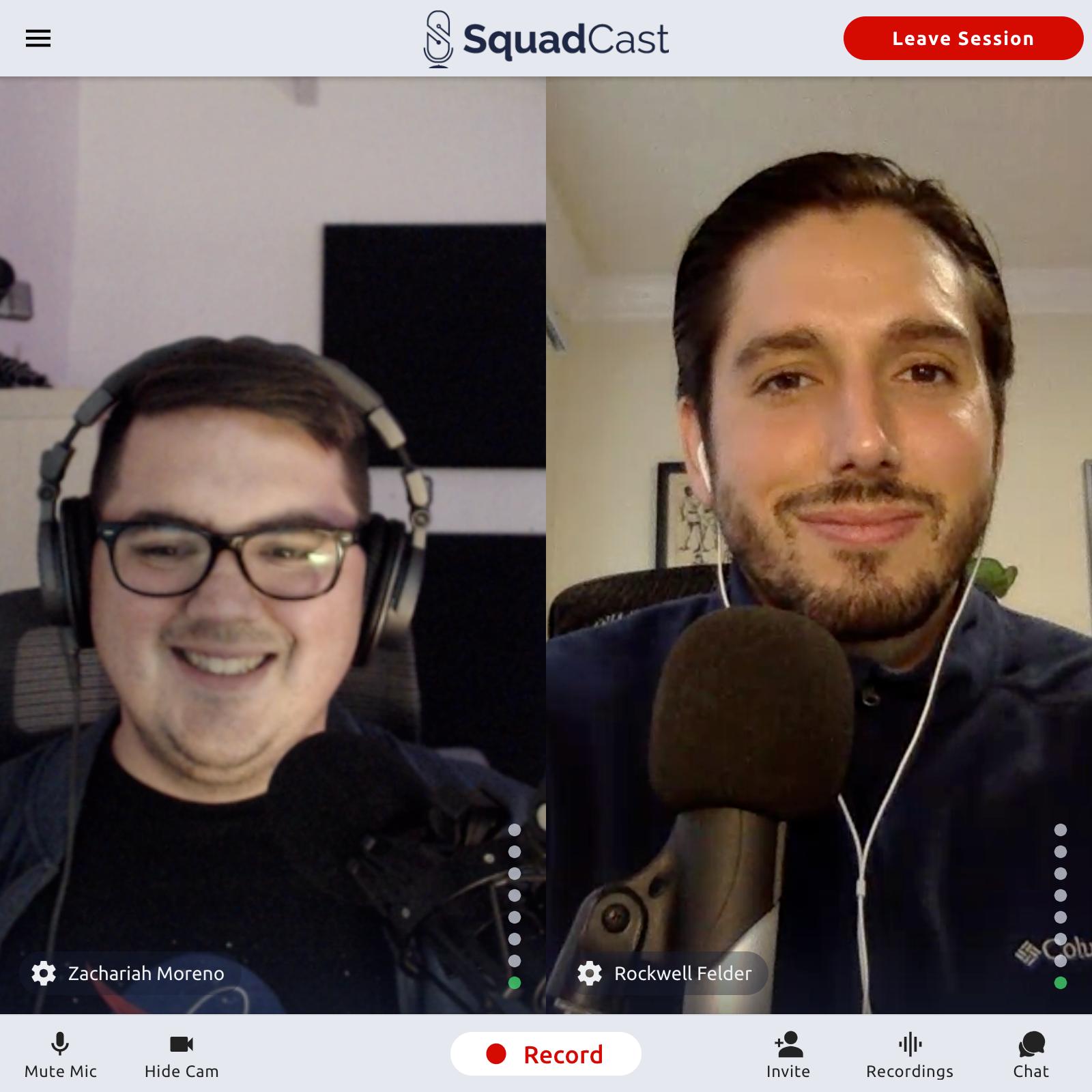 SquadCast Co-Founders - Zach Moreno & Rockwell Felder