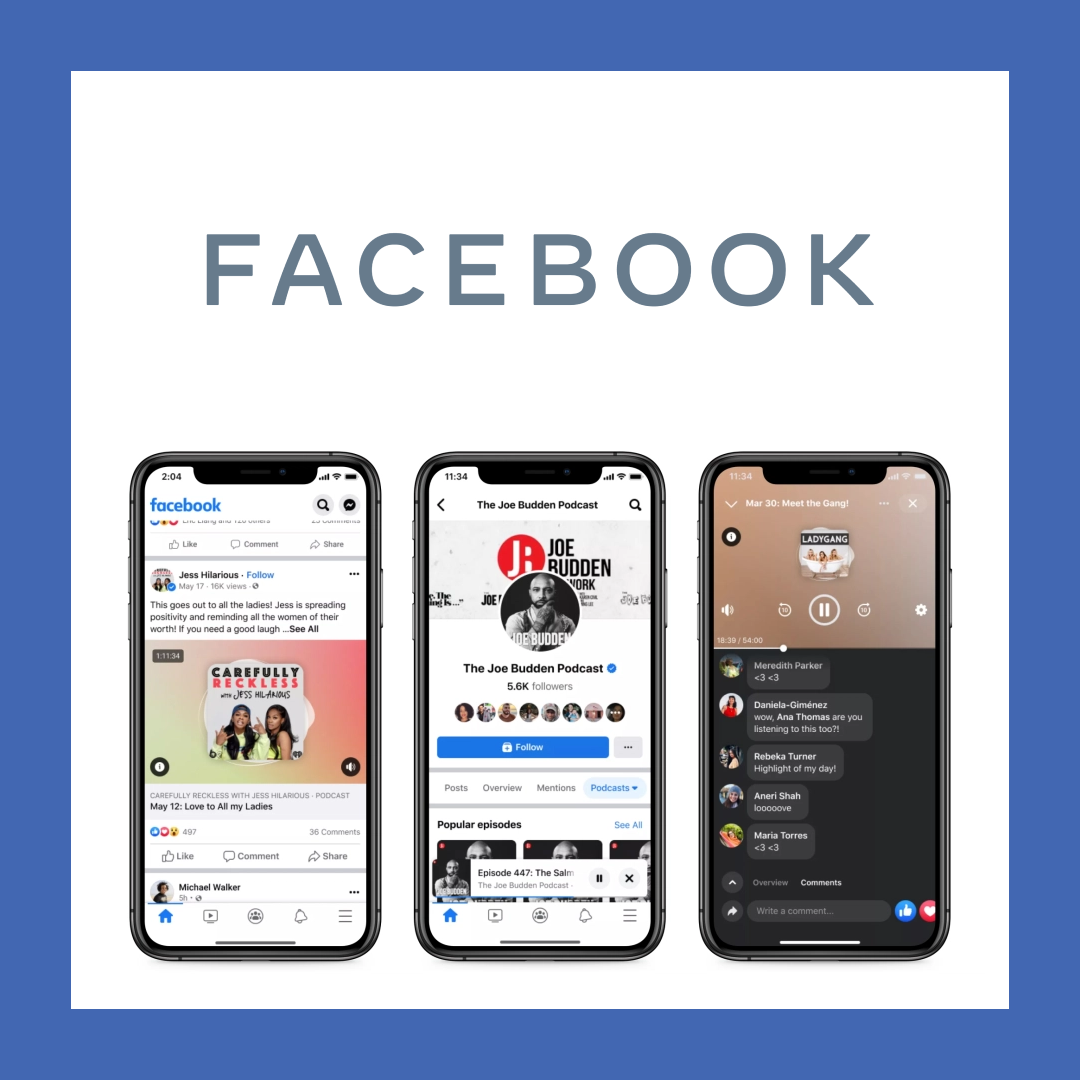 Facebook New Social Audio & Podcast Products